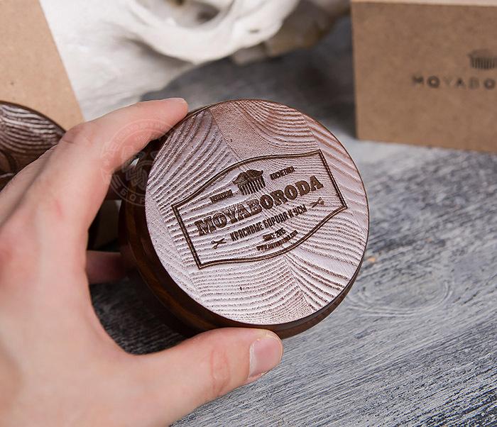 RAZ286 Деревянная чаша с крышкой для бритья от «MOYABORODA» фото 10