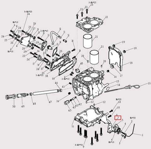 Втулка для лодочного мотора F9.8 Sea-PRO (3-7)