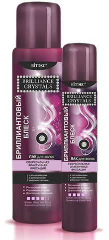 Витэкс Brilliance Crystals Бриллиантовый Блеск Лак для волос сверхсильная фиксация 215мл