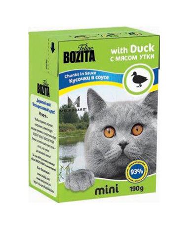 BOZITA консервы для кошек кусочки в соусе с мясом утки 190 г