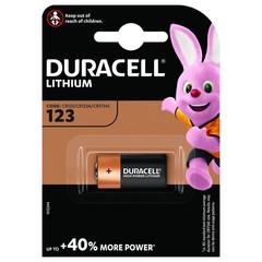 Батарейки DURACELL CR123 ULTRA 3V Lithium, для фотоапп. бл/1