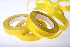 Лента простая (2см*50м) Итальянское тиснение (желтая)