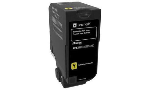Тонер-картридж для принтеров Lexmark CS725 желтый (yellow). Ресурс 12000 стр (74C5HY0)