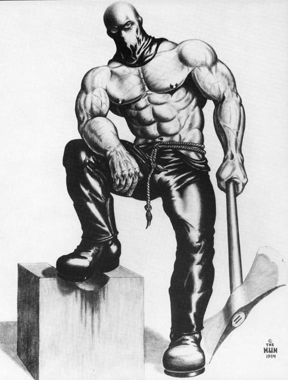 Heads man, the HUN, 1984