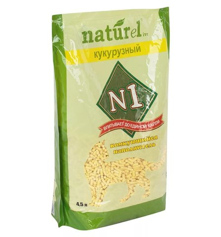 Наполнитель комкующийся Filling N1 NATUReL Corn-lumps