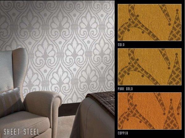 Панно Italreflexes Macro Sheet Steel 012 Gold, интернет магазин Волео