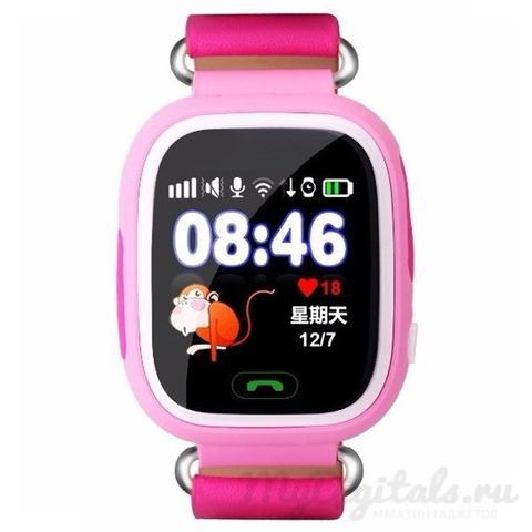 Детские часы с GPS трекером Smart Baby Watch Q80 (Розовый)