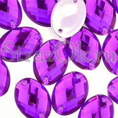 Купить стразы оптом Oval Purple Velvet фиолетовые акриловые