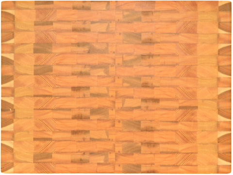 деревянная Торцевая разделочная доска 55х40х4 см лиственница