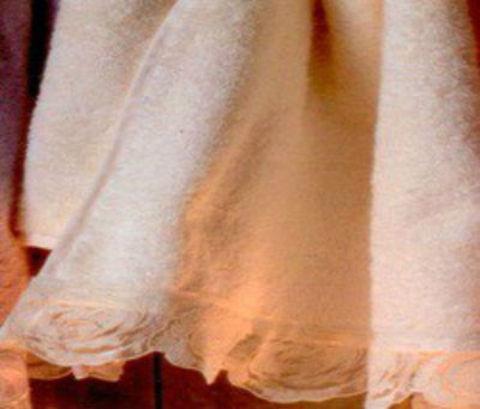 Набор полотенец 2 шт Casa Anversa Rosy с кружевом розовый