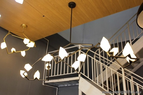 replica Seed chandelier by Bec Brittain for Roll & Hill ( black + 12 )