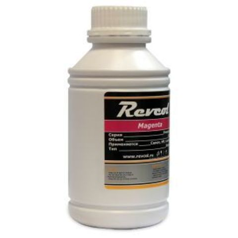 Чернила Revcol для hp, canon, Magenta, Dye, 500 мл.