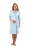 Халат для беременных 09977 голубой