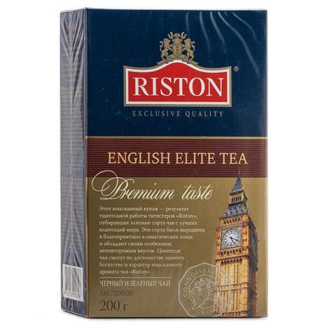 Чай чёрный Среднелистовой Riston English Elite с ароматом бергамота 200г