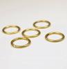 Колечко одинарное неразъемное 15х1,7 мм (цвет - античное золото), 5 штук