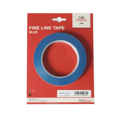 Контурная маскирующая лента виниловая,для дизайна сложных рельефных поверхностей,синяя 9мм/33мм
