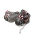 Спортивные ботинки - Серый / розовый. Одежда для кукол, пупсов и мягких игрушек.