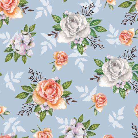 Розы на серо-голубом