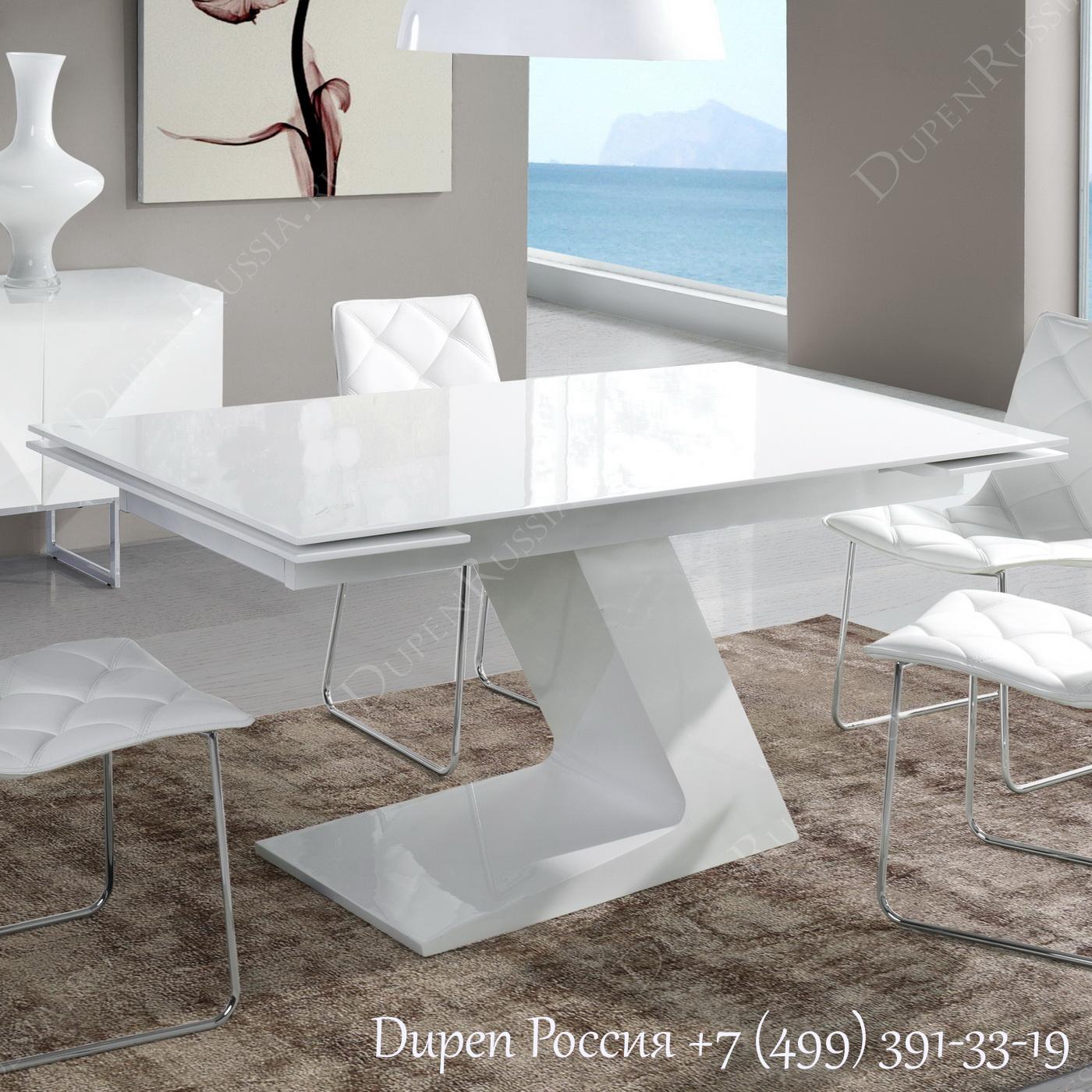 Обеденный стол DUPEN DT-21 Раскладной Белый