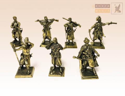 набор солдатиков Запорожские Казаки 17 век 7 шт.