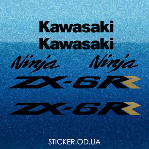 Набор виниловых наклеек на мотоцикл KAWASAKI ZX-6RR 2004