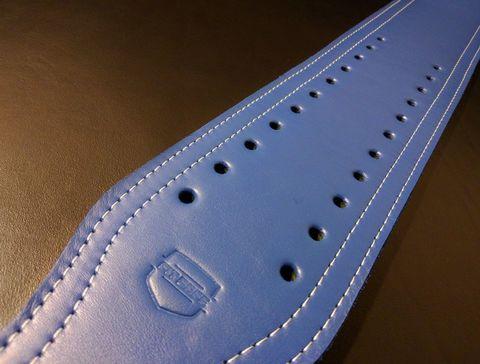 3-х слойный пояс для пауэрлифтинга с удобной пряжкой-зацепом (синий) в длину
