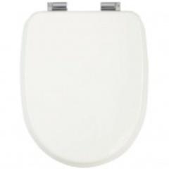 Сиденье для унитаза Migliore Gianeta ML.GNT-26.810.LB.CR с микролифтом, цвет: белый/хром