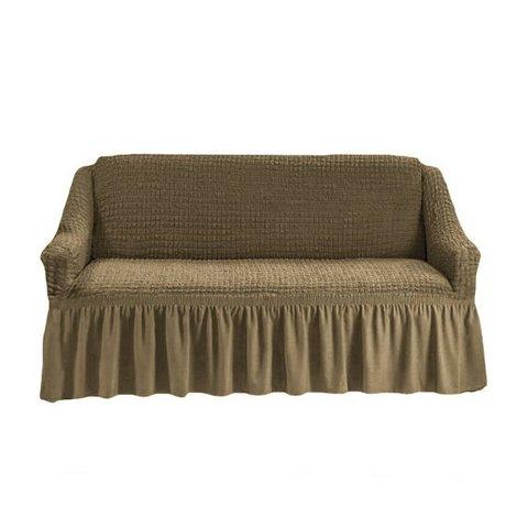 Чехол на трехместный диван, темно-оливковый