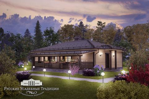"""Одноэтажный дом """"Бета"""" 130 кв.м. из СИП панелей"""