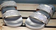 Шлепанцы с камнями Seastar T335P Silver.
