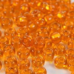 Бисер 2/0 Preciosa прозрачный, оранжевый