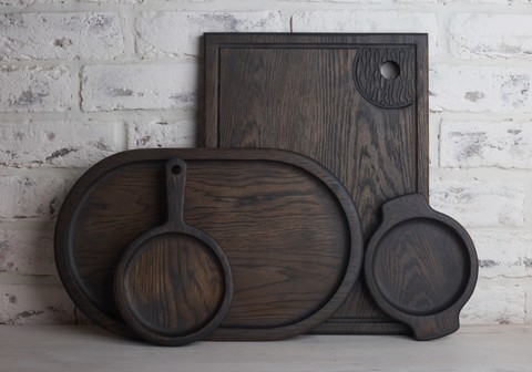 Dark Oak Big Kitchen Set