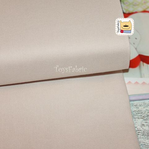 Ткань для пэчворка (однотонный бежевый) №124-12 (45х55см)