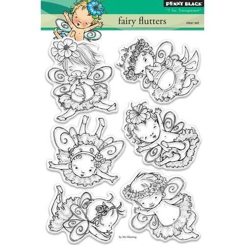 Набор силиконовых штампов  - fairy flutters
