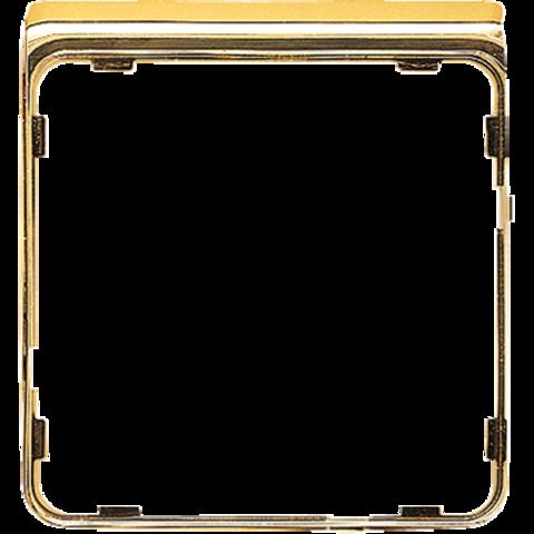 Внешняя цветная рамка. Цвет Полированное золото. JUNG CD PLUS. CDP82GGO