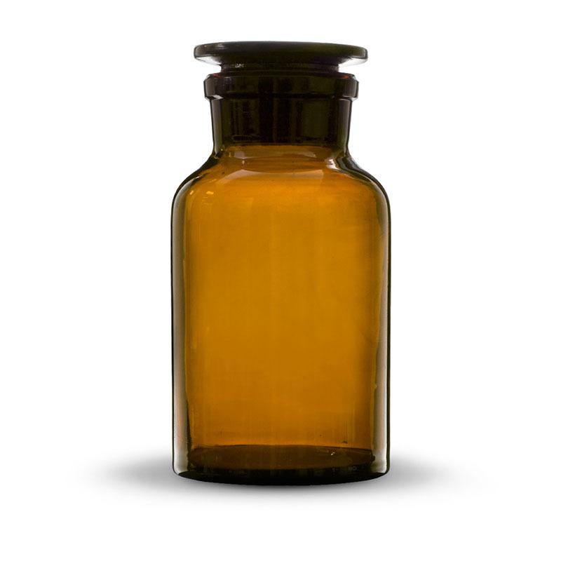 исп 1-2 Склянки для реактивов с притёртой пробкой и широким горлом, янтарное (тёмное) стекло 2500 мл