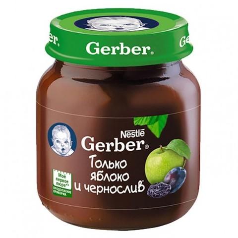 Gerber® Фруктовое пюре яблоко и чернослив 130 гр