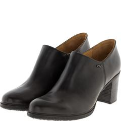 637309 Ботинки женские кожа черные больших размеров марки Делфино