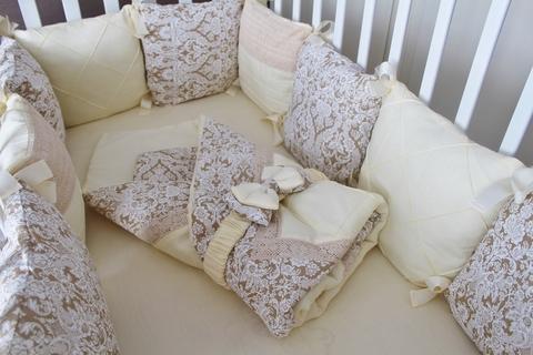 Комплект в кроватку Арабика, на 4 стороны кроватки