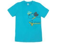 18059-6 футболка для мальчиков, бирюзовая