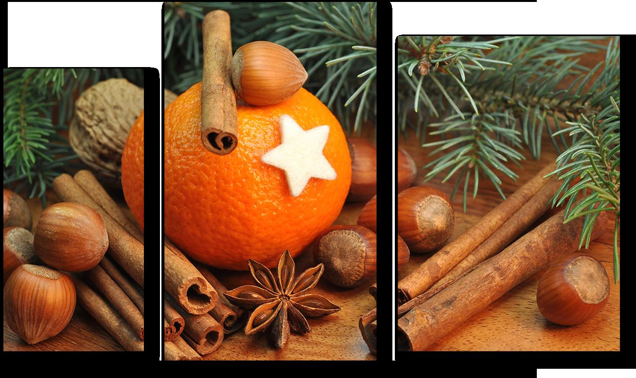 """Модульные картины Модульная картина """"Апельсин с корицей"""" М894.png"""