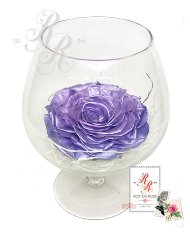 Роза сиреневая в бокале