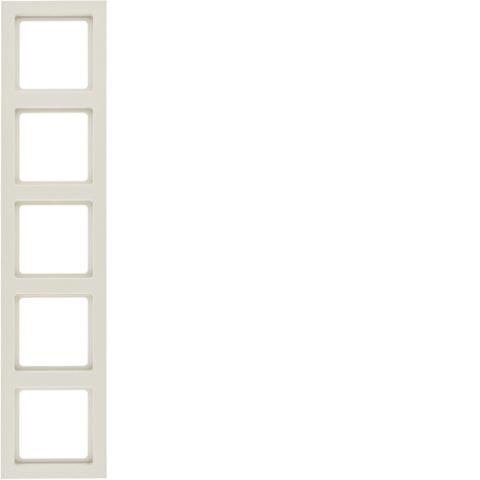 Рамка на 5 постов. Цвет Бежевый. Berker (Беркер). Q.3. 10156092
