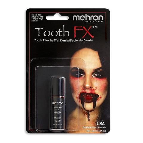 MEHRON Краска для зубов Tooth FX with Brush for Special Effects - Blood Red (Кровь), 4 мл