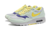 Кроссовки женские Nike Air Max 87 Light Gray Yellow Cyan