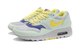 Кроссовки женские Nike Air Max 87 Light Gray Yellow Cyan