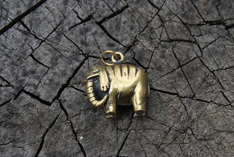 Кулон Слон Полосатый