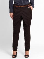 4082 брюки женские, темно-коричневые