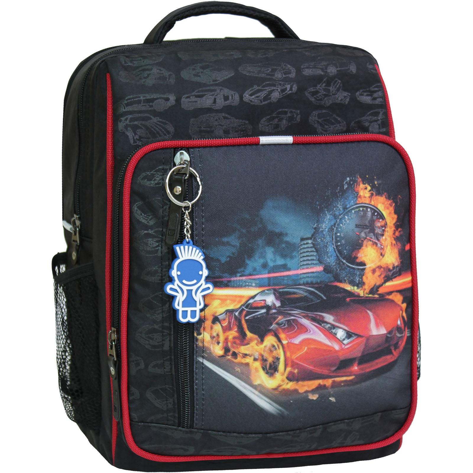 Школьные рюкзаки Рюкзак школьный Bagland Школьник 8 л. Черный (машина 23) (00112702) IMG_8290-1600.jpg