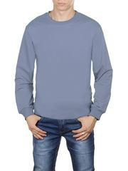 4054-10 футболка мужская дл. рукав, светло-серая